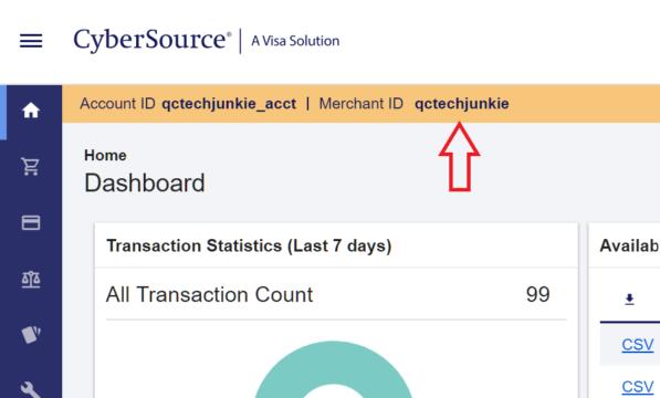 rcp cybersource merchant id